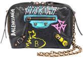 Balenciaga Classic Reporter XS Chain Graffiti Crossbody Bag