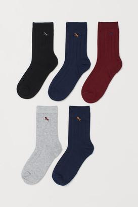 H&M 5-Pack Ribbed Socks