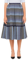 Erdem Elna Degrade Stripe Skirt