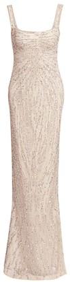 Rachel Gilbert Wanda Hand Embellished Bodycon Gown