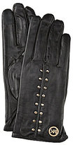 Michael Kors Astor Studded Leather Gloves
