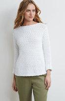 J. Jill Easy Cotton Slub Pullover