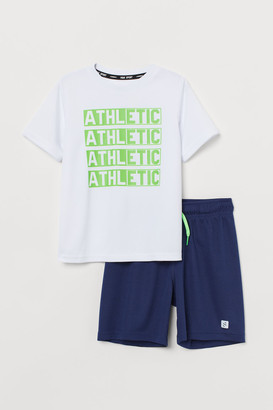 H&M Sports top and shorts