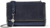 Stella McCartney Falabella Faux Brushed-leather Shoulder Bag - Midnight blue
