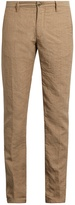 Incotex Slim-leg linen-blend chino trousers