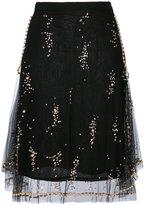 MSGM layered sequined skirt - women - Polyamide/Viscose - 38