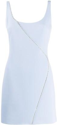 David Koma crystal-embellished A-line dress