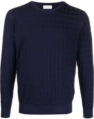 Ballantyne argyle knit sweater