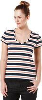 Original Penguin Yarn Dyed Striped Scoop Neck