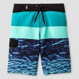 No Fear Boys' Marble & Waves Boardshort Aqua Green
