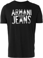 Armani Jeans logo-print T-shirt - men - Cotton - XL