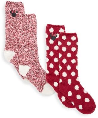 Barefoot Dreams Girl's 2-Piece Cozychic Disney Minnie Mouse Socks Set