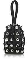 Alexander Wang Dome Stud Roxy Black Suede Mini Bucket Bag