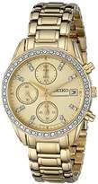 Seiko Women's SNDX76 Chronograph Crystal Japanese Quartz Watch
