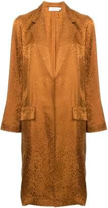 A.L.C. animal print single-breasted coat