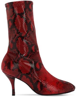 Stuart Weitzman 80mm Slaine Snake Printed Stretch Boots