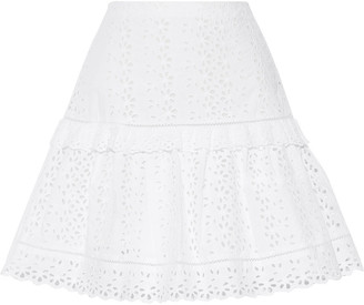 Rebecca Taylor Karina Broderie Anglaise Cotton Mini Skirt