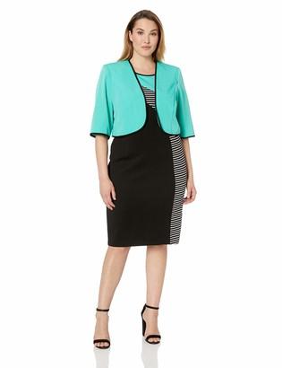 Maya Brooke Women's Side Stripe Jacket Dress