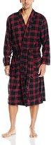 Perry Ellis Men's Shawl Collar Shadow Plaid Robe