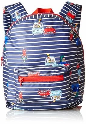 Joules Boys' Adventure Backpack Blue (Navy Stripe Animal)
