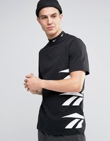 Reebok Vector Side Logo T-shirt In Black Az9546