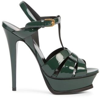 Saint Laurent Tribute135MM Patent Leather Platform Sandals