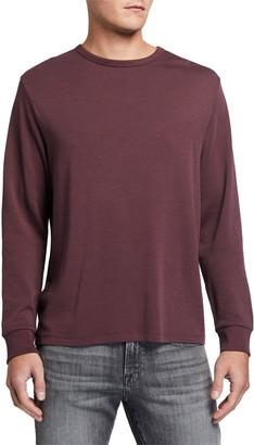 Frame Men's Crewneck Long-Sleeve Quilted-Back Cotton T-Shirt