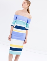 Stripes Off-Shoulder Dress - THE ICONIC Exclusive