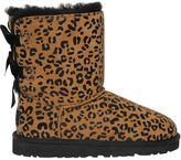 UGG Bailey Bow Leopard Print Shearling Boots