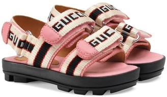 Gucci Kids Toddler Gucci stripe sandal