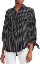 Lauren Ralph Lauren Silk Dot-Print Top - 100% Exclusive