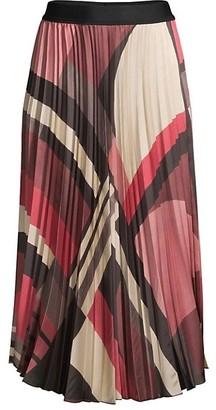 Seventy Printed Pleated Midi Skirt