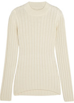 MM6 MAISON MARGIELA Ribbed Wool-blend Sweater - Cream