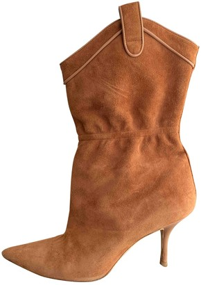 Malone Souliers Brown Suede Ankle boots