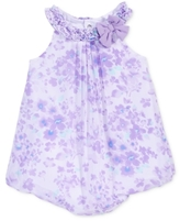First Impressions Floral-Print Chiffon Bubble Romper, Baby Girls (0-24 months)
