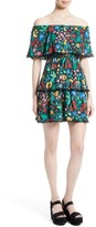 Alice + Olivia Women's Tylie Tiered Ruffle Floral Dress