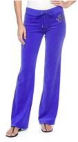 Juicy Couture Logo Velour Jc Floral Bootcut Pant