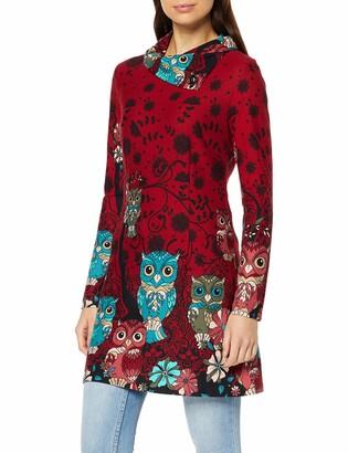 Joe Browns Women's Opulent Owl Tunic Long Sleeve Top Red (Burgundy Multi (Size:12)