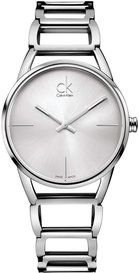 Calvin Klein Watch, Women's Swiss Stately Stainless Steel Bracelet 34mm K3G23126