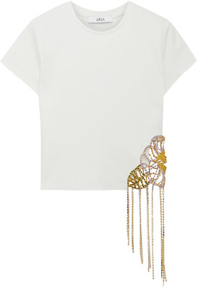 Area Crystal-embellished Stretch-jersey T-shirt