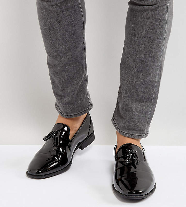 4c0c31e7 Design DESIGN Wide Fit tassel loafers in black patent