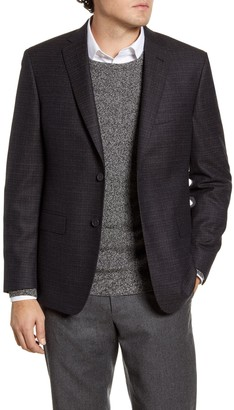John W. Nordstrom Classic Fit Check Wool Sport Coat