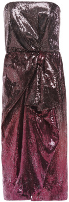 Mary Katrantzou Kylie Draped Embellished Degrade Stretch-tulle Dress