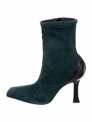 Celine Madame Suede Sock Boots Green