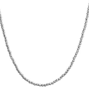 Aqua Sterling Sparkle Necklace, 17