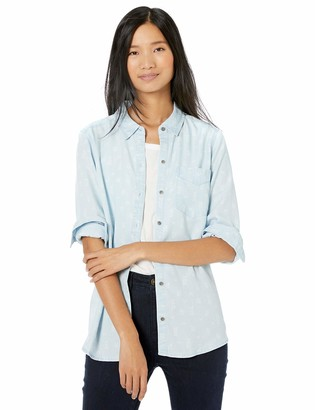 Goodthreads Amazon Brand Women's Tencel Boyfriend Shirt