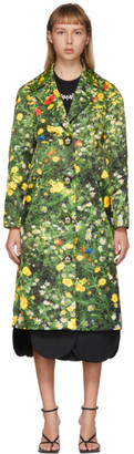 Christopher Kane Green Satin London Field Coat