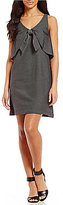 Daniel Cremieux Sydney Tie Front Sheath Dress