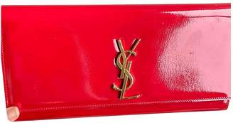Saint Laurent Kate monogramme Red Patent leather Clutch bags