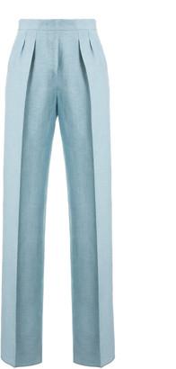 Max Mara Nembo Linen Blend Wide-Leg Pants